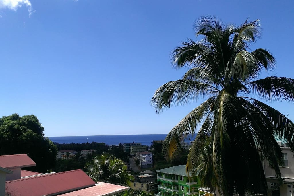 Ocean view from apartment