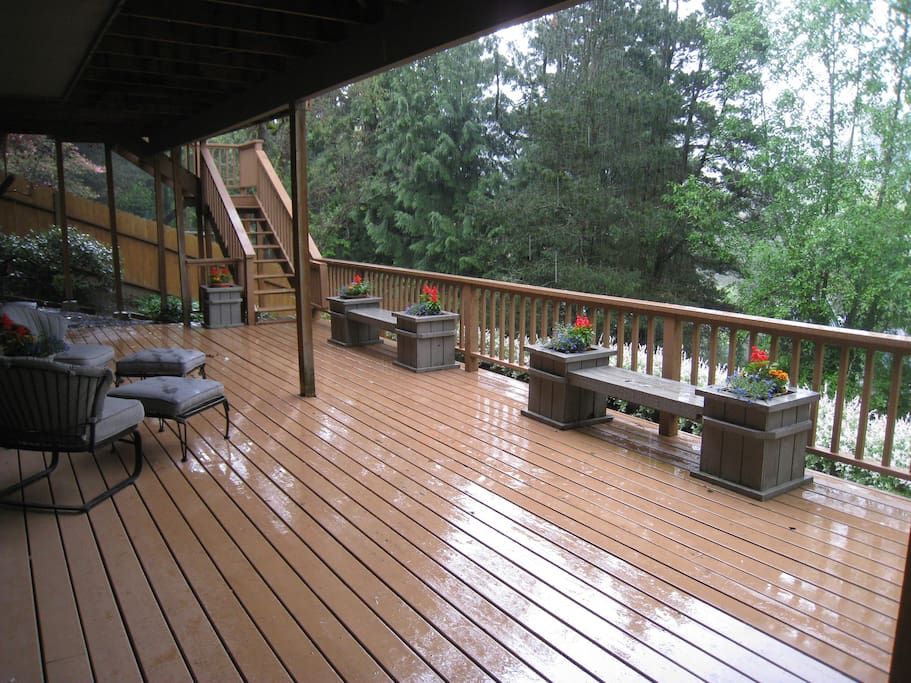 Lower deck- One of the bedrooms has a door out to this deck