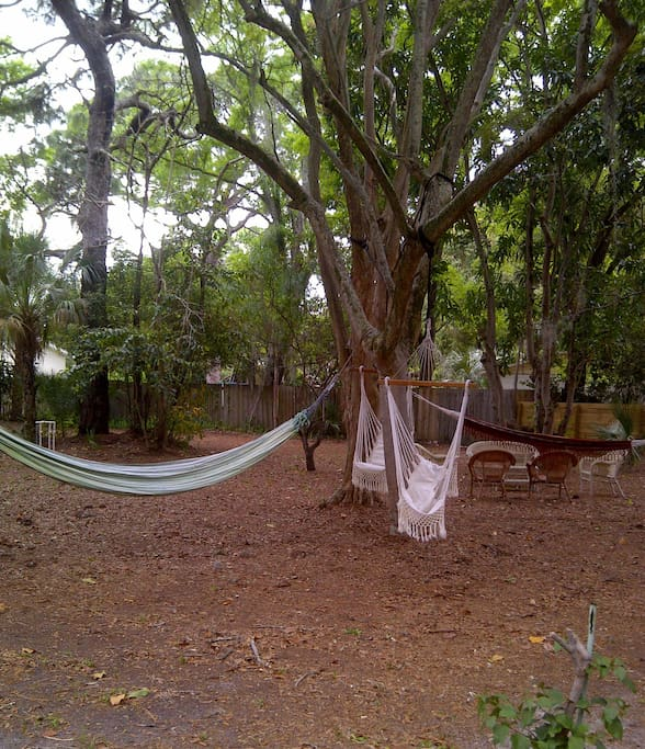 .You can relax in the hammocks