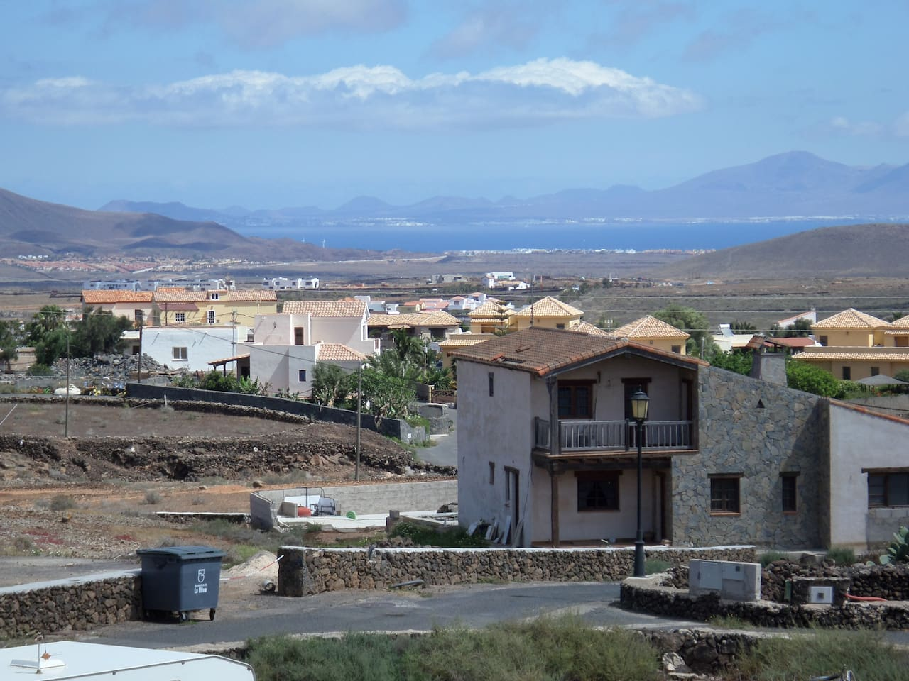 View to Lanzarote from bedroom window