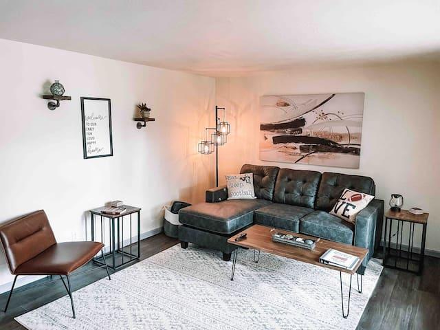 Living Room with Sofa Sleeper