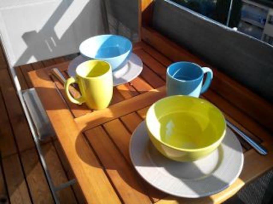 petit déjeuné au soleil