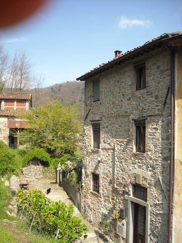 charming flat in an old village - Borgo a Mozzano - Huis