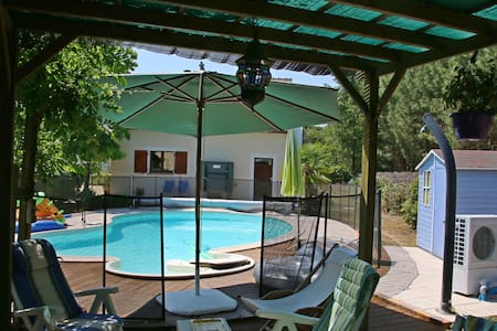 Gîte Aunay, piscine, Barnum, Barbecue  (près 24 H)