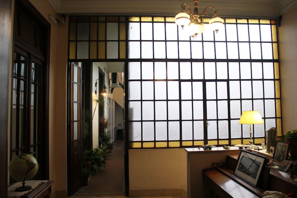 El vestíbulo de entrada