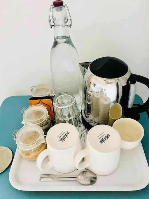 In room tea & coffee tray