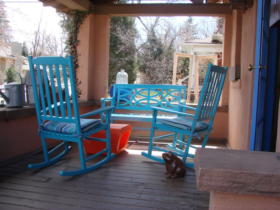 New porch furniture.  Great place for a.m. coffee.