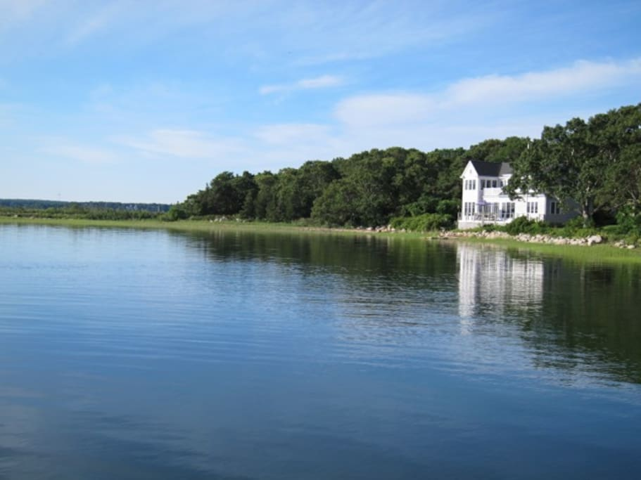 View of the house from water.