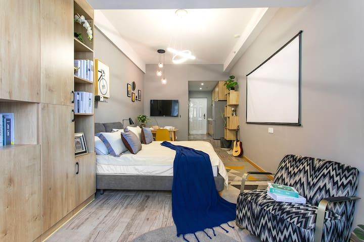 [promise house]今日超级特价!设计师手笔,100寸投影电视双屏随心选,中央空调,水亭街