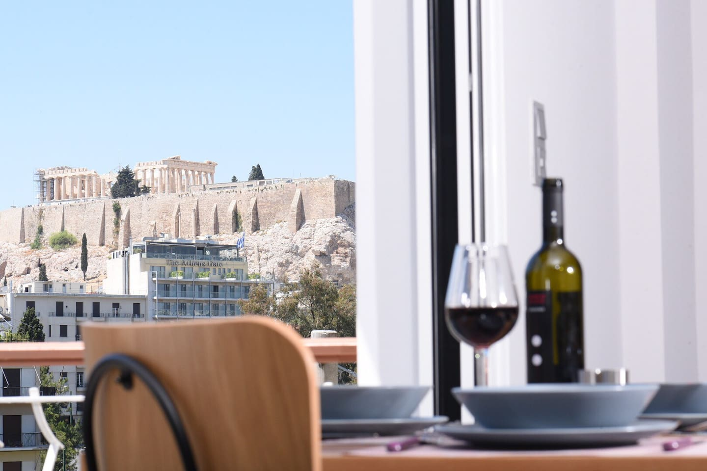 Acropolis view from the balcony