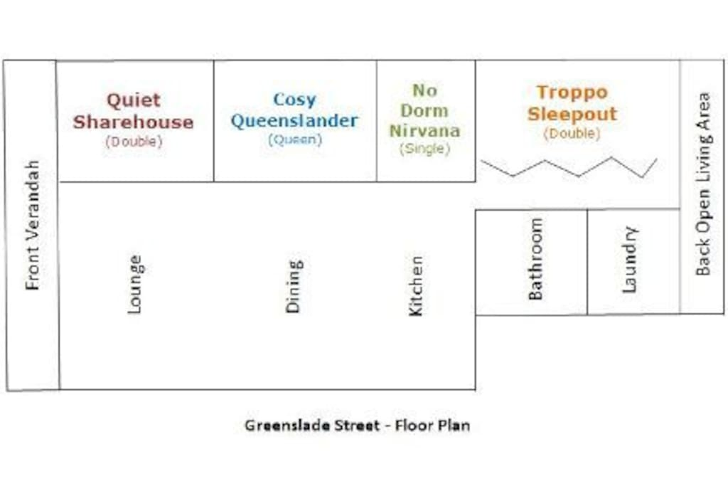 Floor Plan - other airbnb rooms in the house
