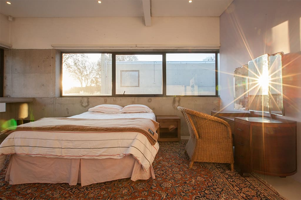 Your room which catches the morning sun and has north facing windows that keep it warm in winter and cool in summer.