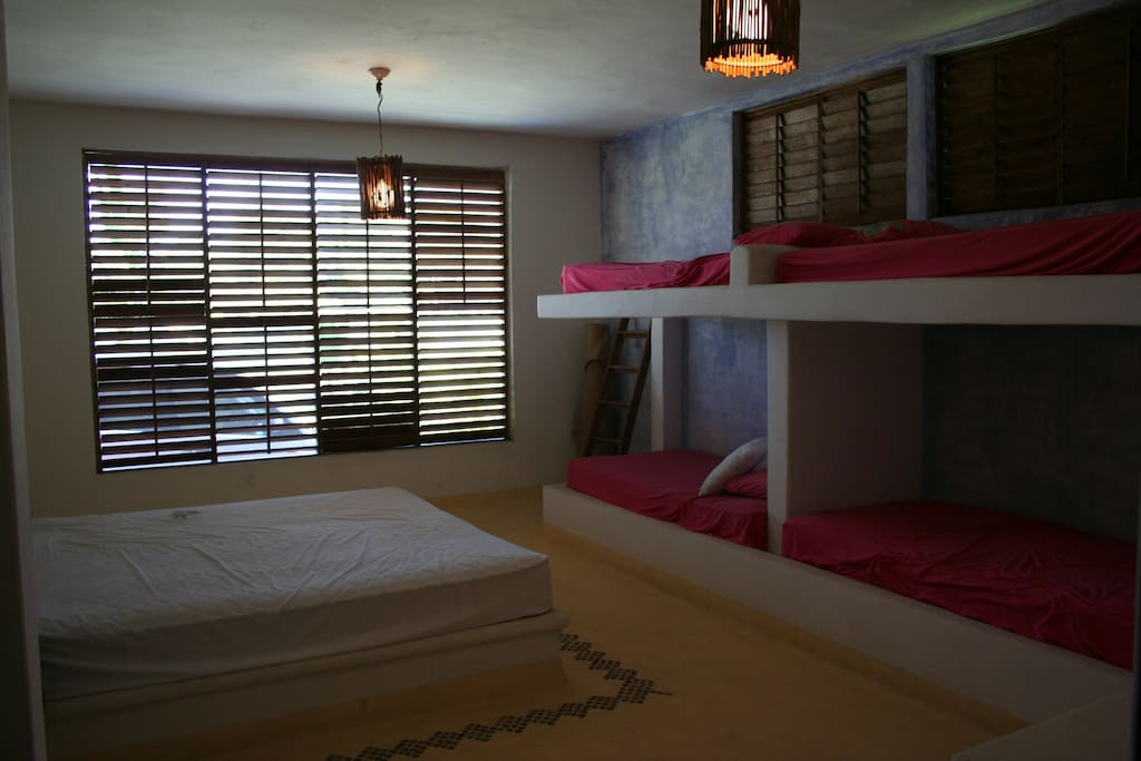 The rooms to have a great night or afternoon nap. Each one holds one family!