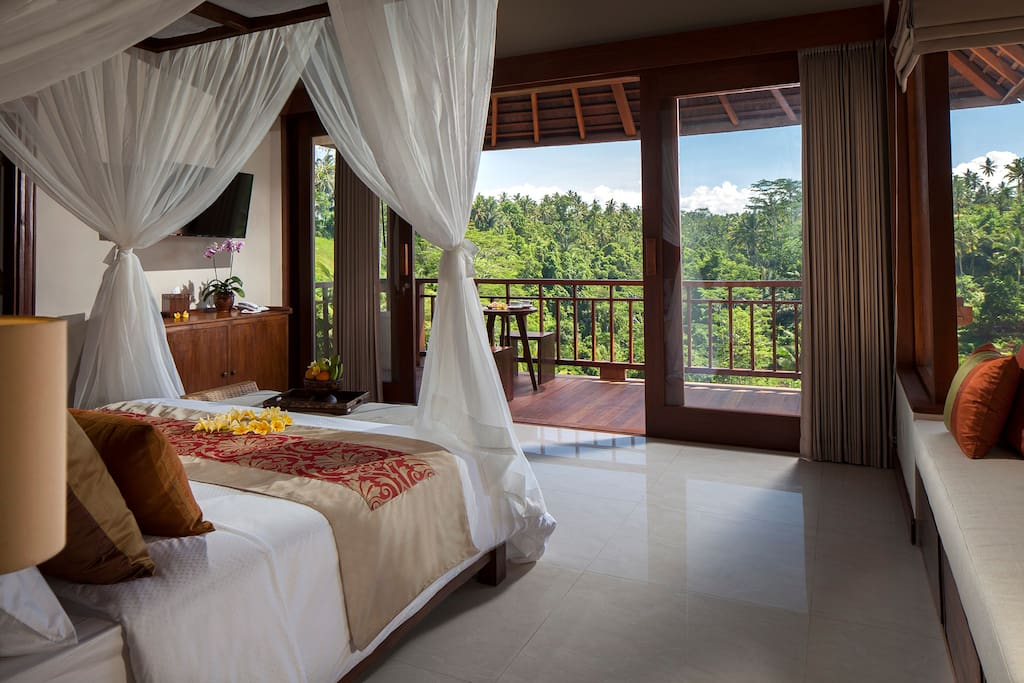 Ubud stunning resort fabulous view to ubud valley for Design boutique hotel ubud
