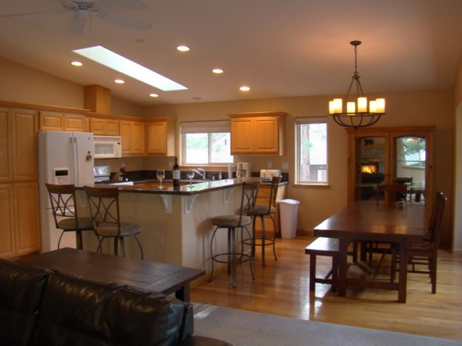 Well appointed kitchen for all of your needs and large group seating.