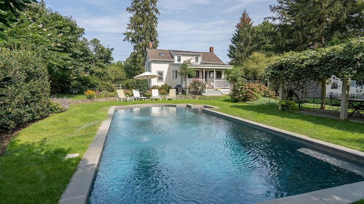 New Listing: Charming Bridgehampton Home w/ Heated Gunite Pool and Pool House, Just Steps to Town