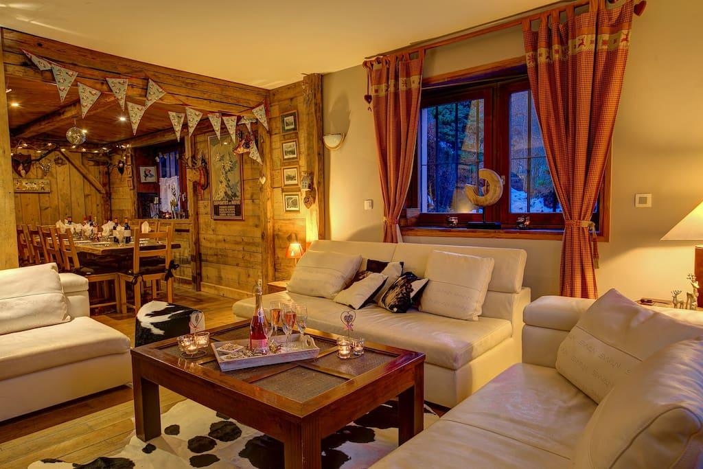 Living Italian leather sofas
