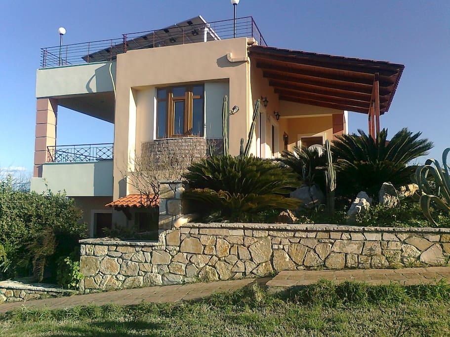 The villa (exterior view)