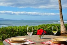 Oceanfront living at its best!  Enjoy a beverage on your private lanai while taking in this view.