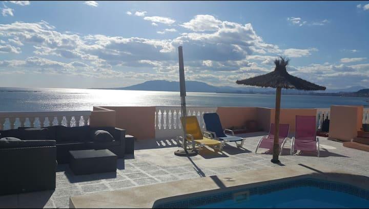 Sea views villa in Malaga with pool,air con+wifi
