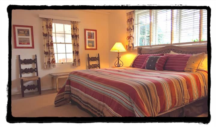 The Lodge Room: private  suite at Historic Ranch