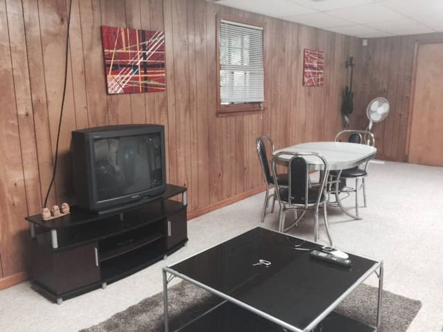 Living area. Television has full cable including HBO and Showtime.