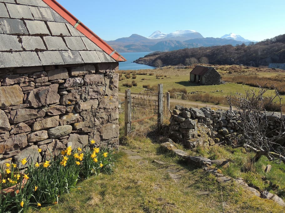 with spectacular views across Loch Torridon