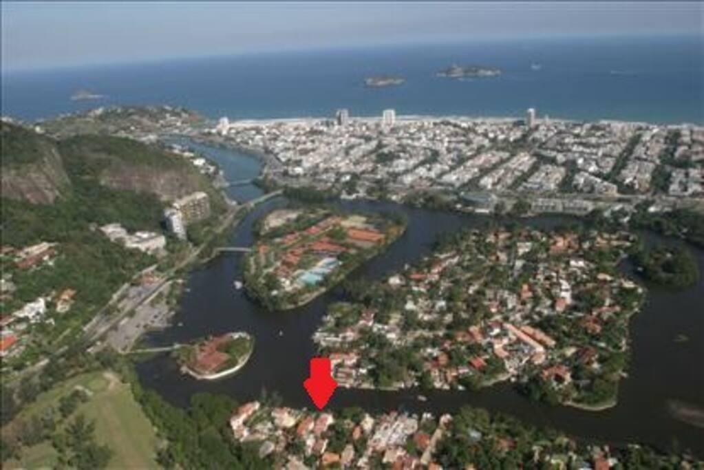 Vista da Lagoa e a praia da Barra da Tijuca