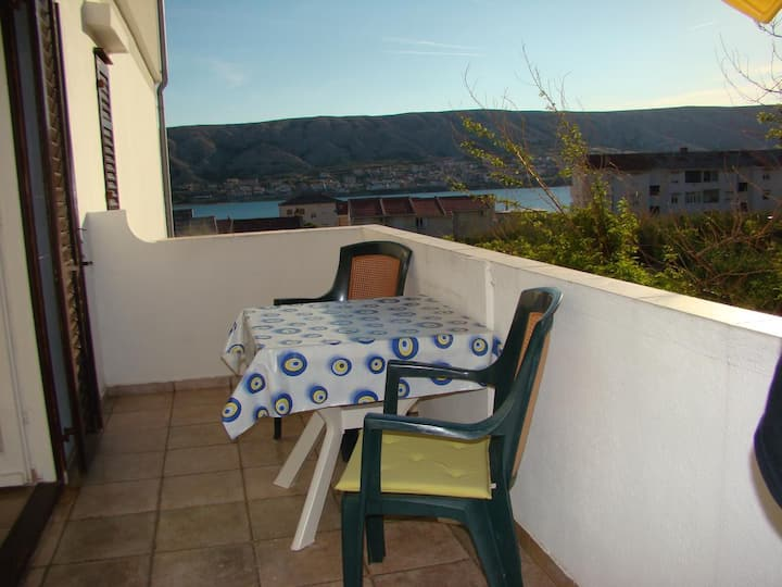 One bedroom apartment with balcony and sea view Pag (A-13060-b)
