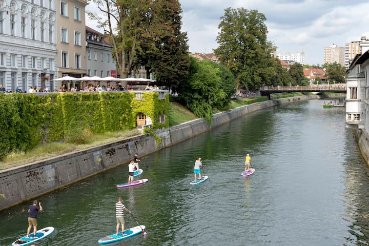 Ljubljana is always active! We recommend you to try Ljubljana from sup perspective