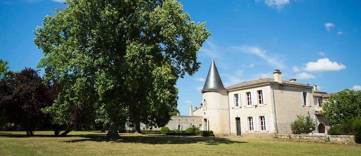 Château 7chbr/14pers vignoble et plage Dordogne