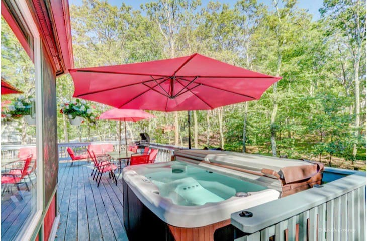 1-2 Month nature ESCAPE Hot Tub,Sauna1H30M to NYC