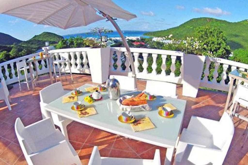 3 different terrasses to enjoy nature, amazing view in the Caribbean
