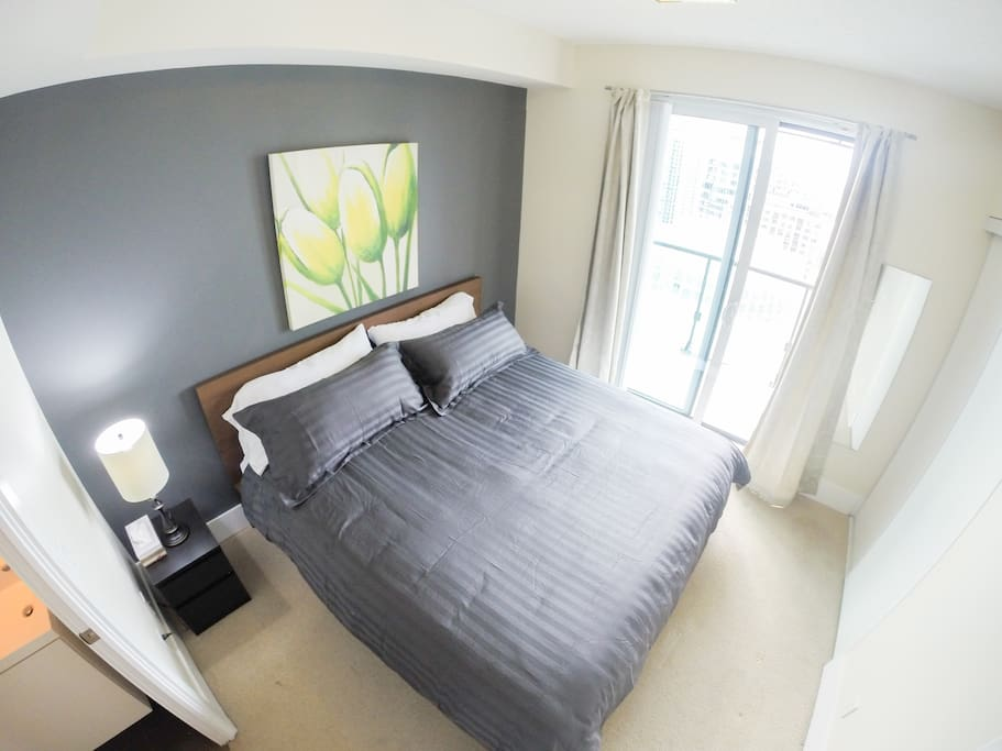 Master bedroom, with brand new king sized luxury mattresses and ensuite