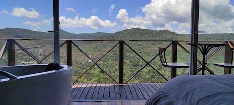 Chalé com vista incrível da Cascata Véu de Noiva..