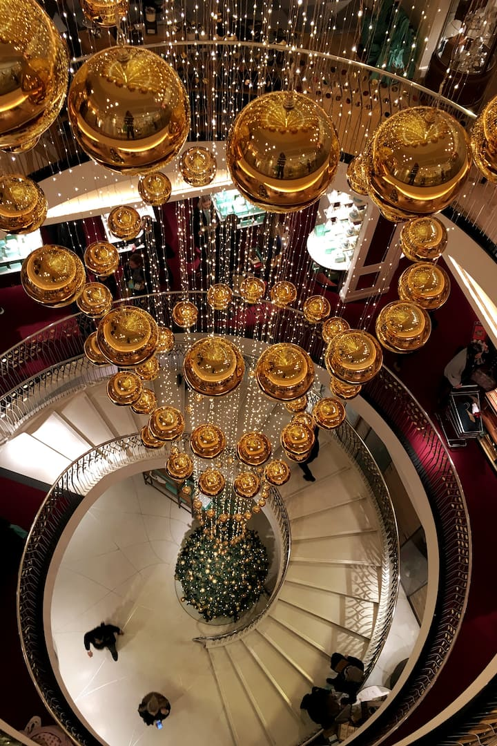 Stairs and baubles