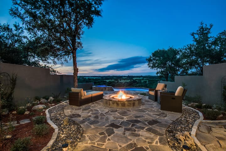 Hill Country Sunsets by the Fire