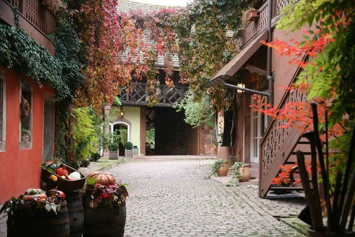 """Chambre double - Maison """"Violette du Vignoble"""" - Rodern - ที่พักพร้อมอาหารเช้า"""