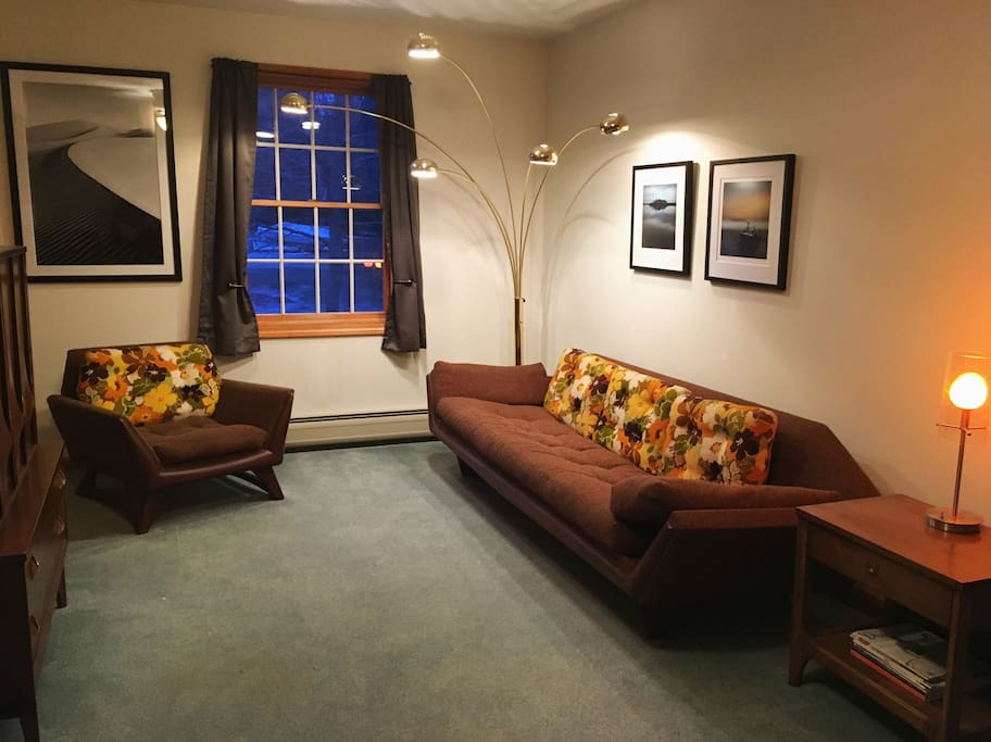 Private reading area en suite. Plenty of light for reading day or night.