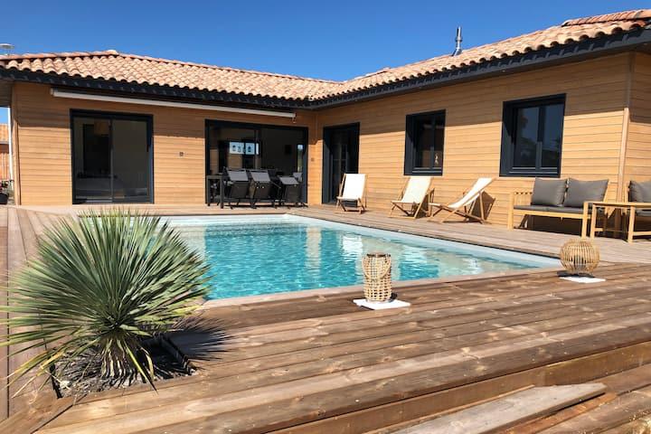 Les dunes, Villa de plage avec piscine