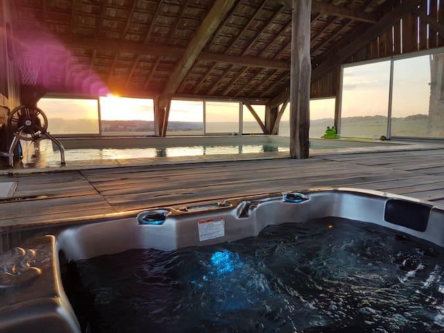 ferme d antan piscine 28 couverte spa salle fete