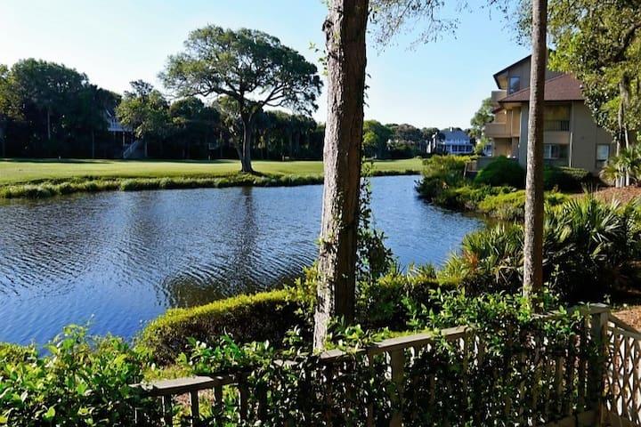 Newly renovated, Turtle Point Villa, on lagoon!