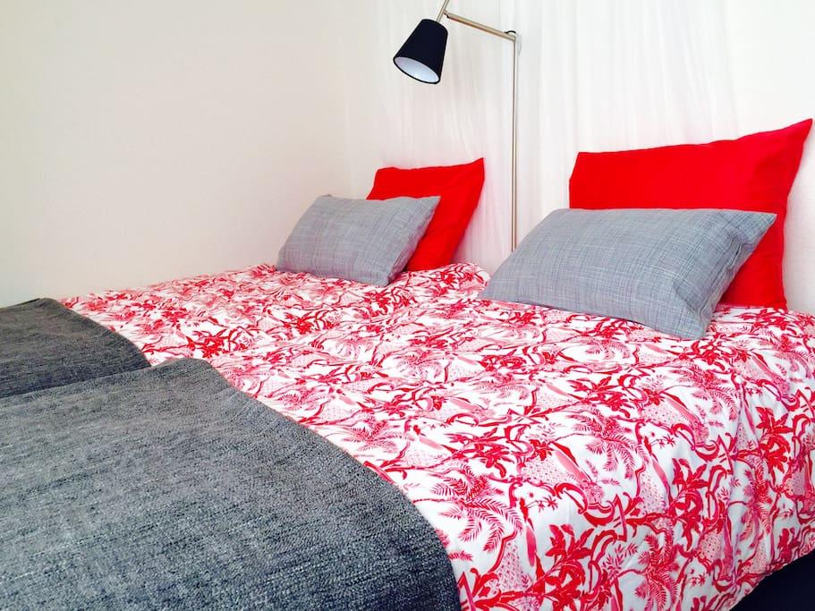 Bedroom-2 single beds on 2nd floor