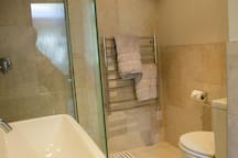 Your bathroom has a toilet
