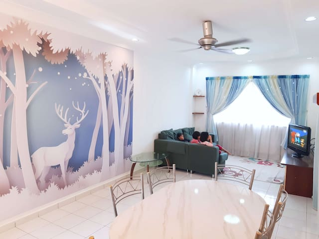 Perai Utama-Cozy City 3BR 2 Bathroom-6pax