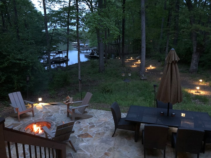 Lake life.  Luxury home And level walk to the lake