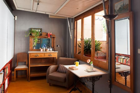 Room w/private terrace in a lovely loft in Gracia - Barcelona