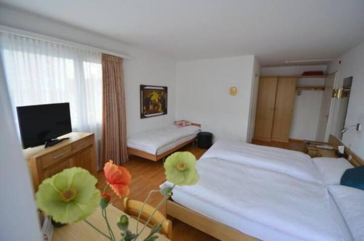 3 Bett Zimmer, City Hotel Wettingen