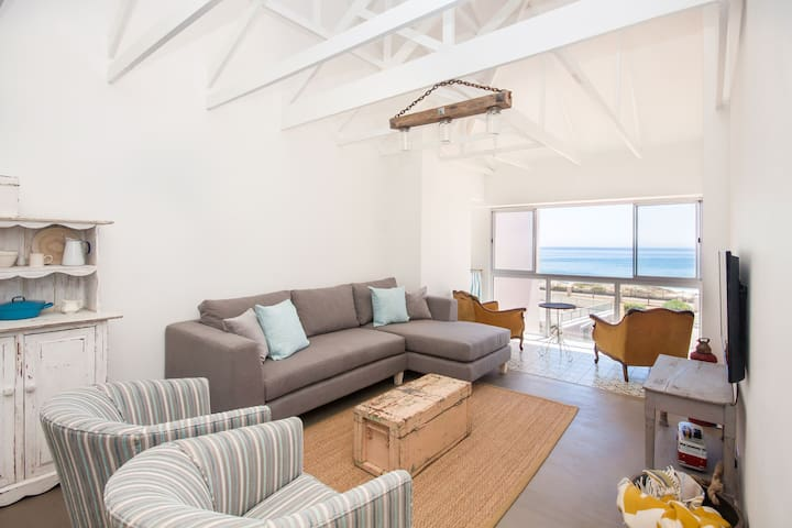 The BEACH HOUSE right on the SEA with great views!