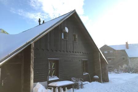 Chata ve skiareálu Červenohorské sedlo